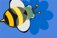 Gaffez l'abeille illustration stock