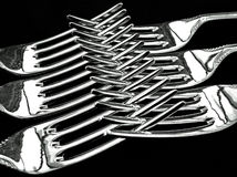 gafflar silver sex royaltyfri fotografi