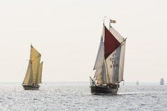 Gaffriggers sailing Royalty Free Stock Photo