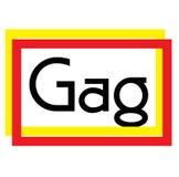 Gag stamp on white. Background. Sign label sticker royalty free illustration