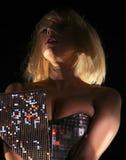 Gaga Nahaufnahme der Dame Stockfotografie