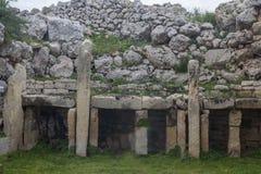 Gagantija Temple | temple B grave royalty free stock image