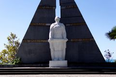Monument to those killed in the Great Patriotic War. Gagara, Abkhazia - September 9, 2017 Monument to those killed in the Great Patriotic War Stock Images