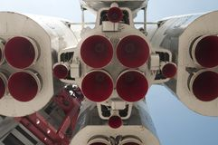 Gagarin spaceship model in Moscow Stock Photos
