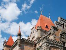 верхняя часть дворца принцессы Gagarina, Крыма Стоковое Изображение