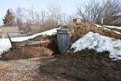 Gagarins grävde-ut Arkivfoto