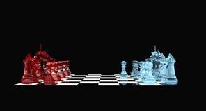 Gage blanc - échecs illustration libre de droits