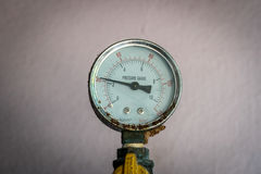 Gage. Closeup image of Pressure Gage stock image