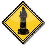 Gage d'échecs avec un coureur illustration de vecteur