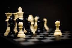 Gage d'échecs pour le fond ou la texture de chef Images stock