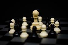 Gage d'échecs pour le fond ou la texture de chef Images libres de droits