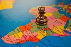 Gage de l'Afrique dans les échecs  Image stock