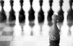 Gage de pièce d'échecs à bord Photo stock