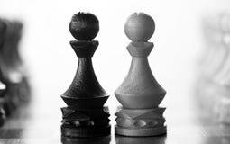 Gage de pièce d'échecs à bord Photo libre de droits