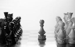 Gage de pièce d'échecs à bord Photographie stock
