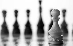 Gage de pièce d'échecs à bord Photos libres de droits
