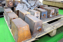 In-gage scrap. Wait for return to casting manufacturing royalty free stock photography
