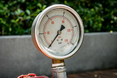 Gage show zero. Image of Water pressure gage stock photo