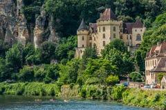 Gageac Frankrike för Chateaude la mallantrie La roque Royaltyfri Foto
