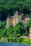 Gageac Frankrike för Chateaude la mallantrie La roque Royaltyfria Foton