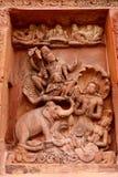 Gagendra Moksha Vishnu Idol em Dashavatara Vishnu Temple fotos de stock