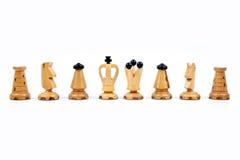 Gages blancs d'échecs Photographie stock