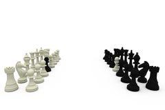 Gages d'échecs sur les équipes rivales illustration stock