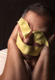 Gagged and blindfolded  Man Stock Photography