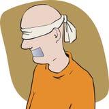 Gagged ha bendato gli occhi Immagini Stock