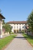 Gaggiano (Milaan), historische villa royalty-vrije stock afbeelding