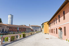 Gaggiano (Milan). Gaggiano (Milan, Lombardy, Italy): the ancient town and the Naviglio Stock Photography