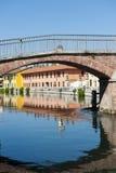 Gaggiano (Milan), bridge Stock Photography