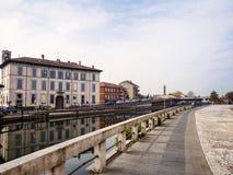 Gaggiano Milan, Italy: along the Naviglio Grande Royalty Free Stock Image