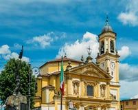 Gaggiano, Milan, Lombardie, Italie : façade de l'église du ` Invenzio, XVIIème siècle de Sant Photo libre de droits