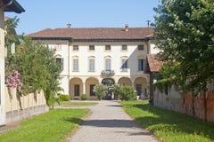 Gaggiano (Milano), chalet histórico Imagen de archivo libre de regalías