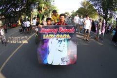 Gaggiga fans för dam Royaltyfri Foto