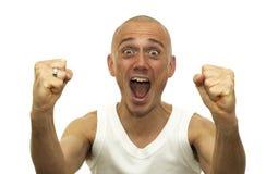 A gagné la loterie Images libres de droits