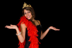 Gagnant de concours de beauté Image libre de droits