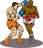 Gagnant de perforateur de coup de grâce de boxe Image libre de droits