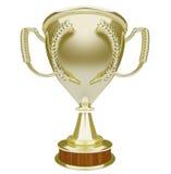 Gagnant de récompense de prix supérieur de l'espace de copie de blanc de trophée d'or illustration de vecteur