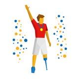 Gagnant de sport de handicapé physique avec la médaille Images stock