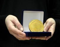 Gagnant de trophée de médaille Photos libres de droits