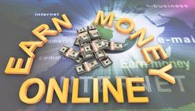 Gagnant l'argent en ligne Photos stock