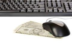 Gagnant l'argent en ligne Photo libre de droits