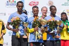 Gagnants de la course femmes éthiopiennes de course de 13ème édition des grandes Photo libre de droits