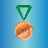 Gagnants de la médaille en bronze sur la bande Images libres de droits