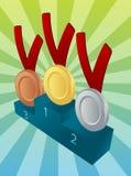 gagnants de médaille Image libre de droits