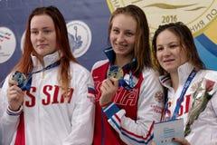 Gagnants de tasse de Salnikov Images libres de droits