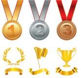 Gagnants de trophée en compétitions sportives Image libre de droits