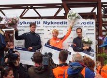 Gagnants - marathon de Copenhague Photographie stock